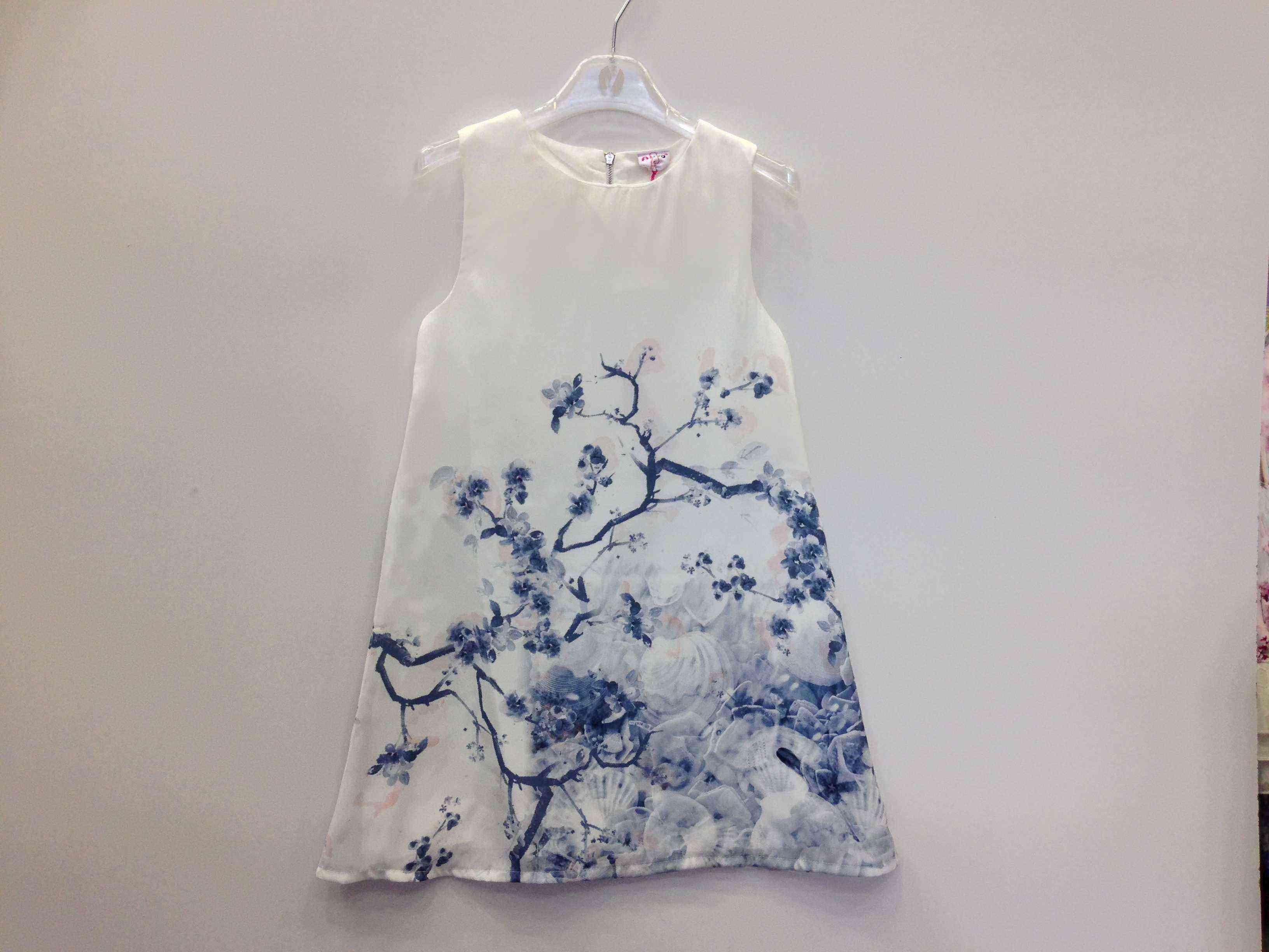 654c3553f3a φόρεμα λευκό-σιέλ