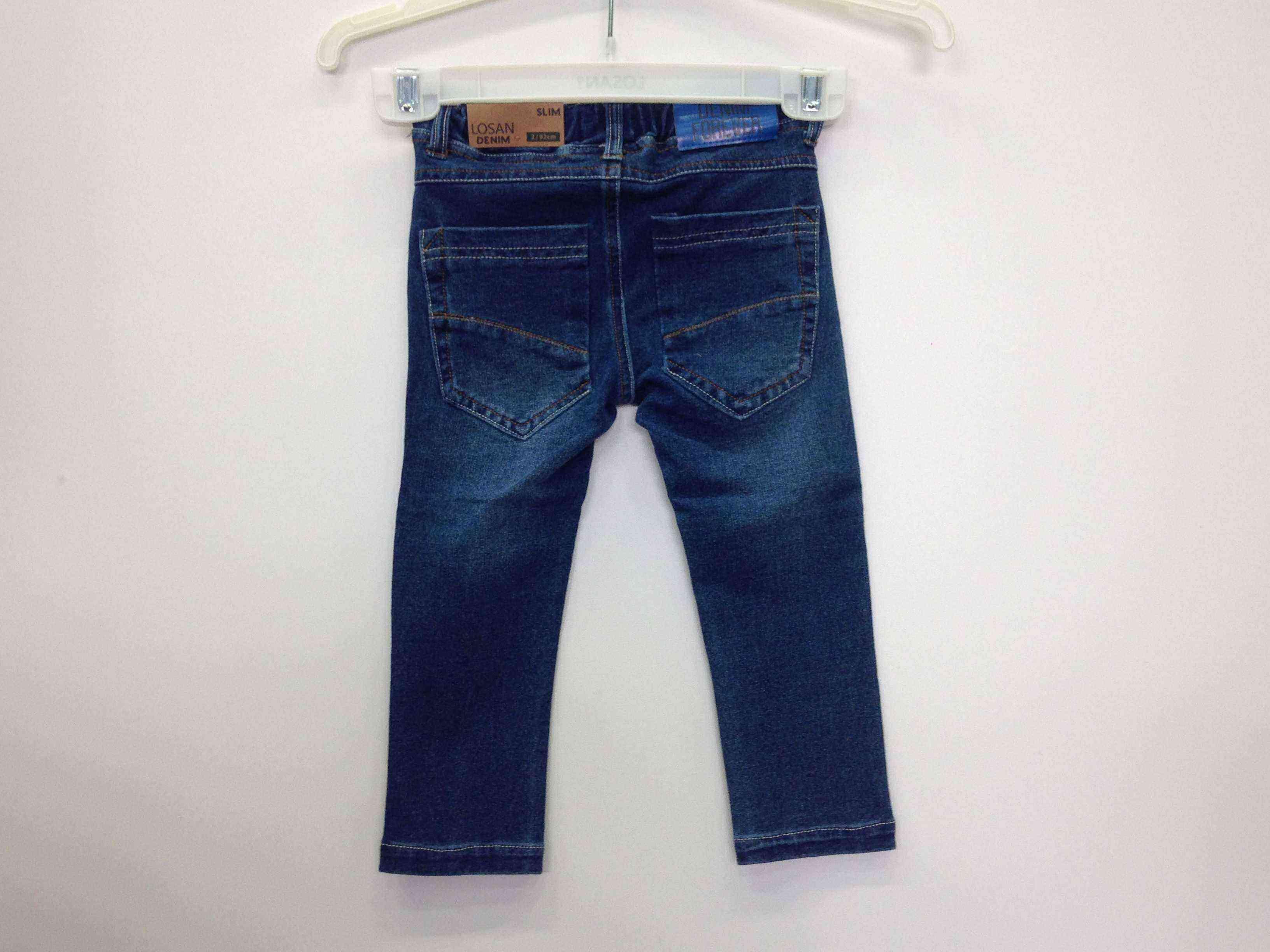 829fec3e63e LOSAN Παντελόνι τζιν, μαλακό με λάστιχο στη μέση & κορδόνι