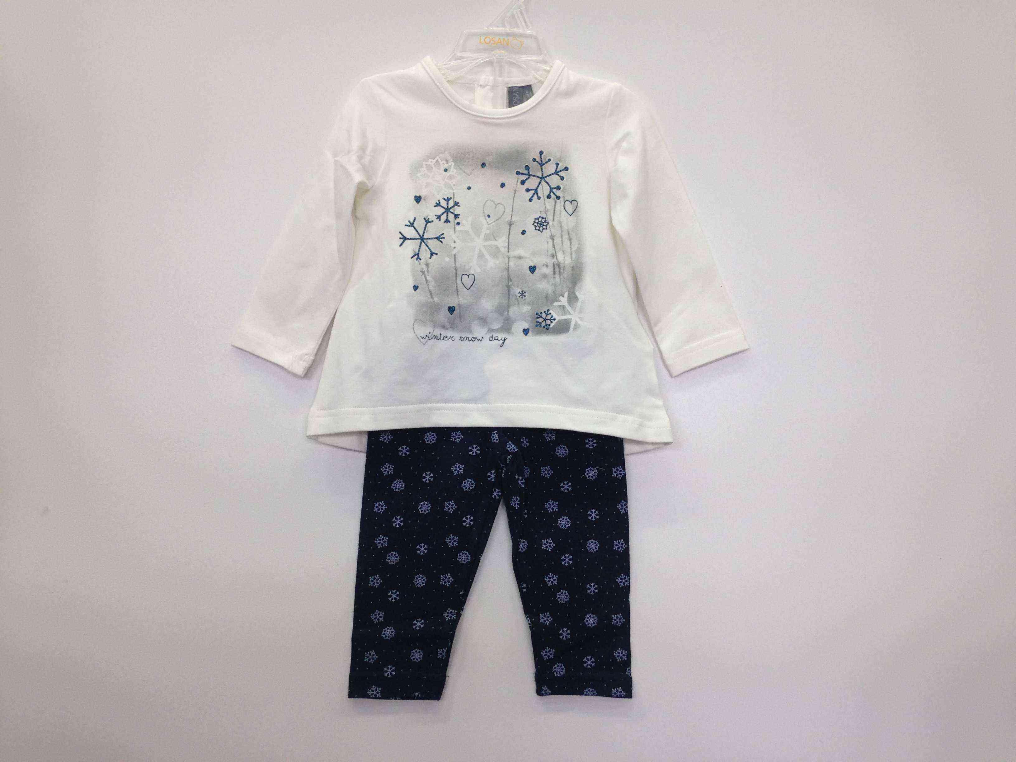 a26a475f445 LOSAN Μπλουζοφόρεμα με κολάν «χιονονιφάδες» | Kids Club