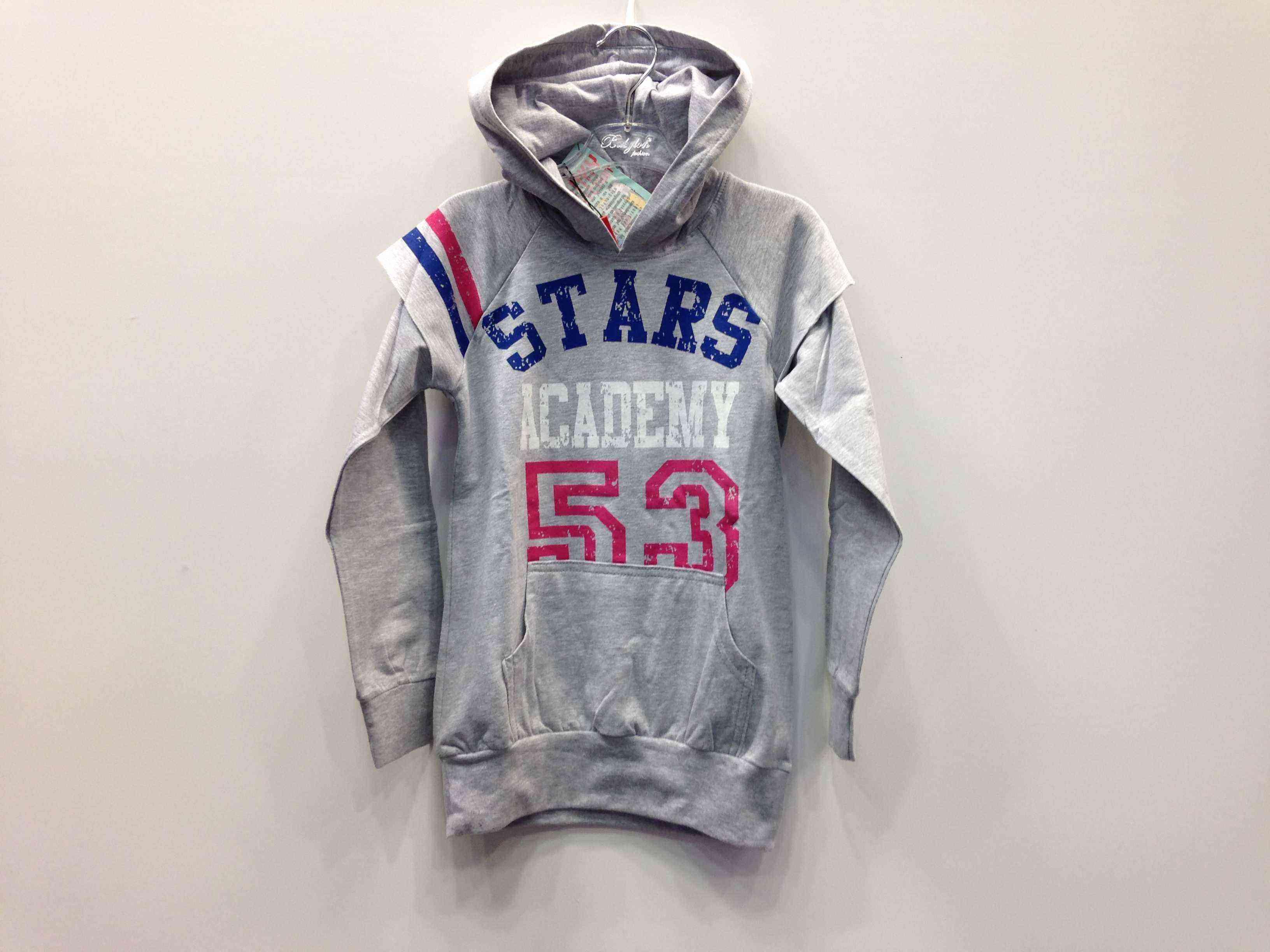826f181c7d7a FUNKY Μπλουζοφόρεμα - κολάν αθλητικό με κουκούλα και τσέπη μάρσιπο -