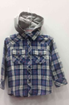 91c5adb3921b Μπλούζες-Πουκάμισα · LOSAN πουκάμισο καρω με αποσπώμενη κουκούλα