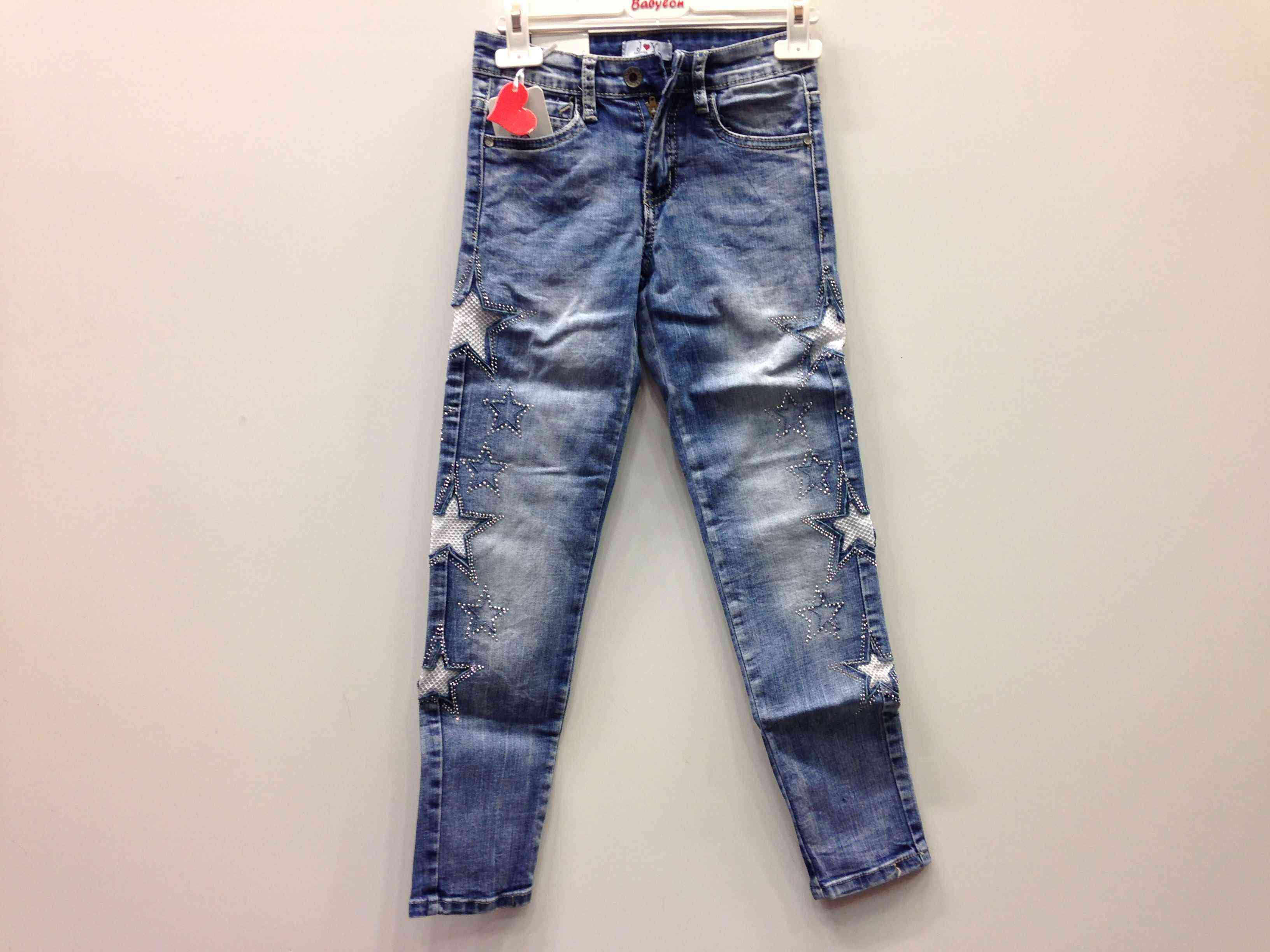 17bdf7ac191 JOY τζιν παντελόνι κορίτσι με τρουκς και αστέρια στο πλάι -