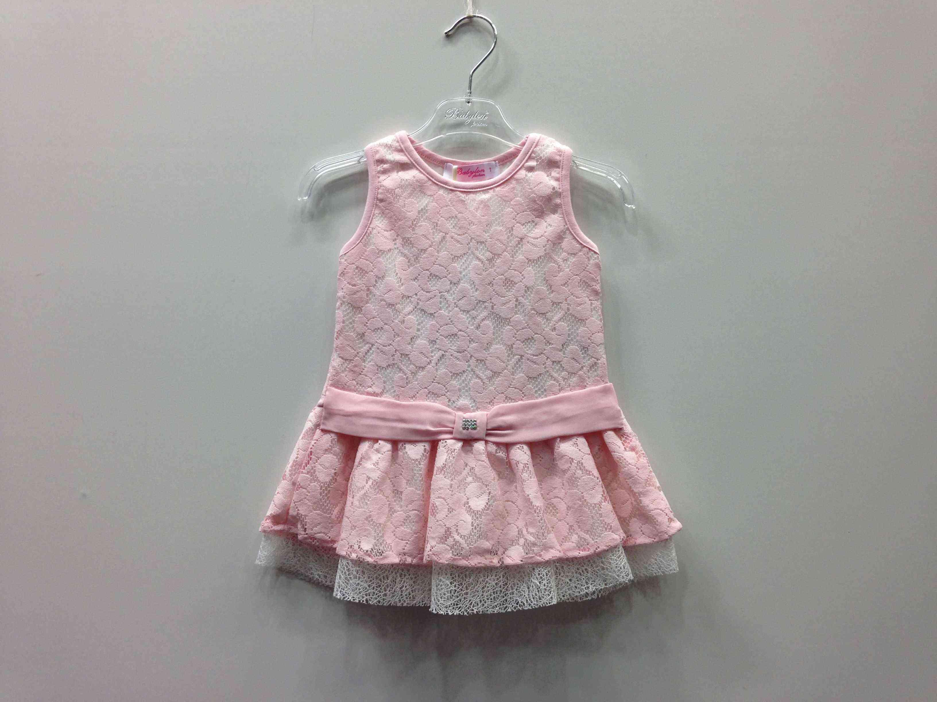8745215d7e8 BABYLON φόρεμα δαντέλα, αμάνικο σε 2 χρώματα -