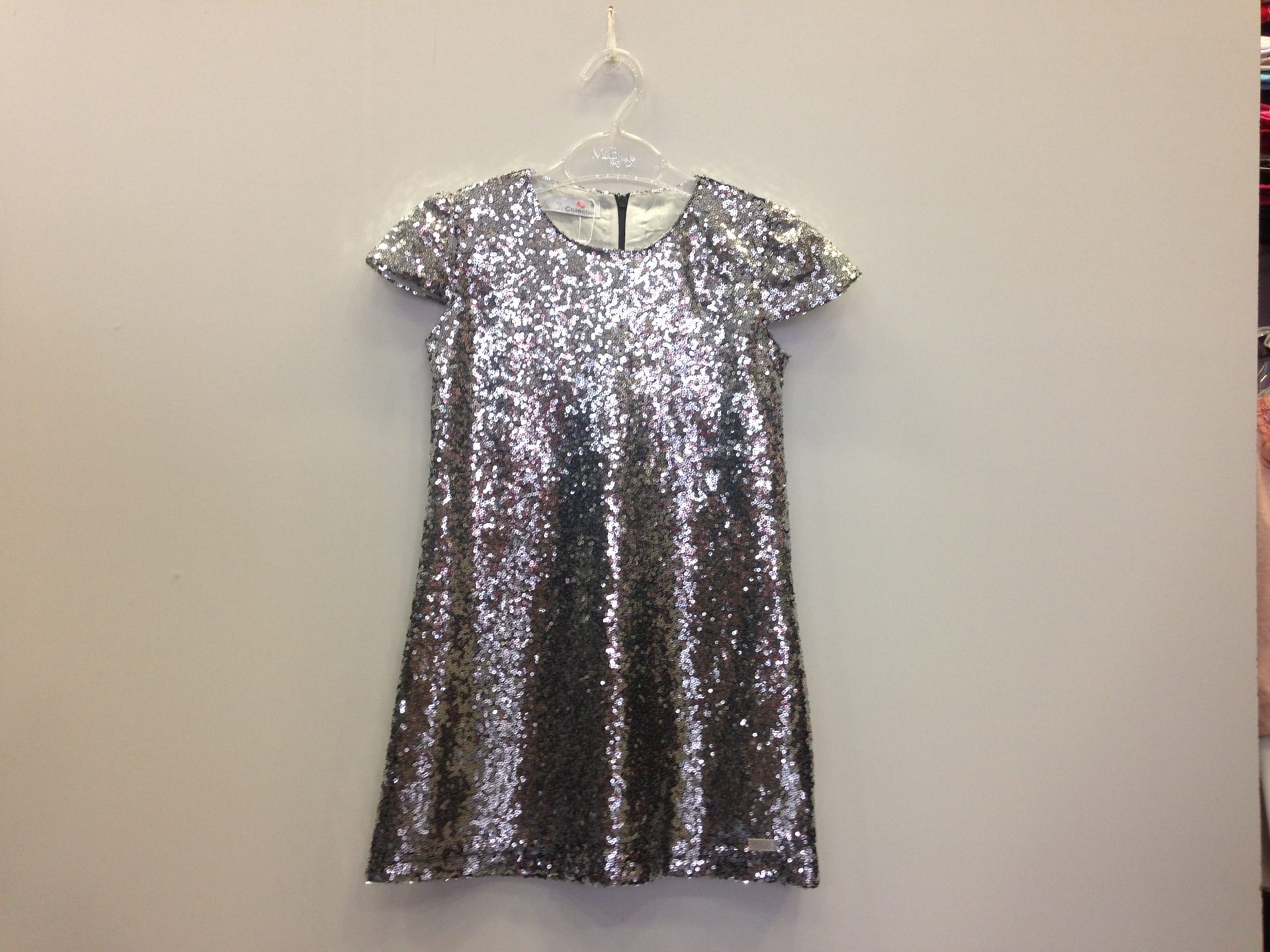 9e2d4647d46 M&B φόρεμα όλο παγιέτα ασημί κ/μ σε άλφα γραμμή   Kids Club