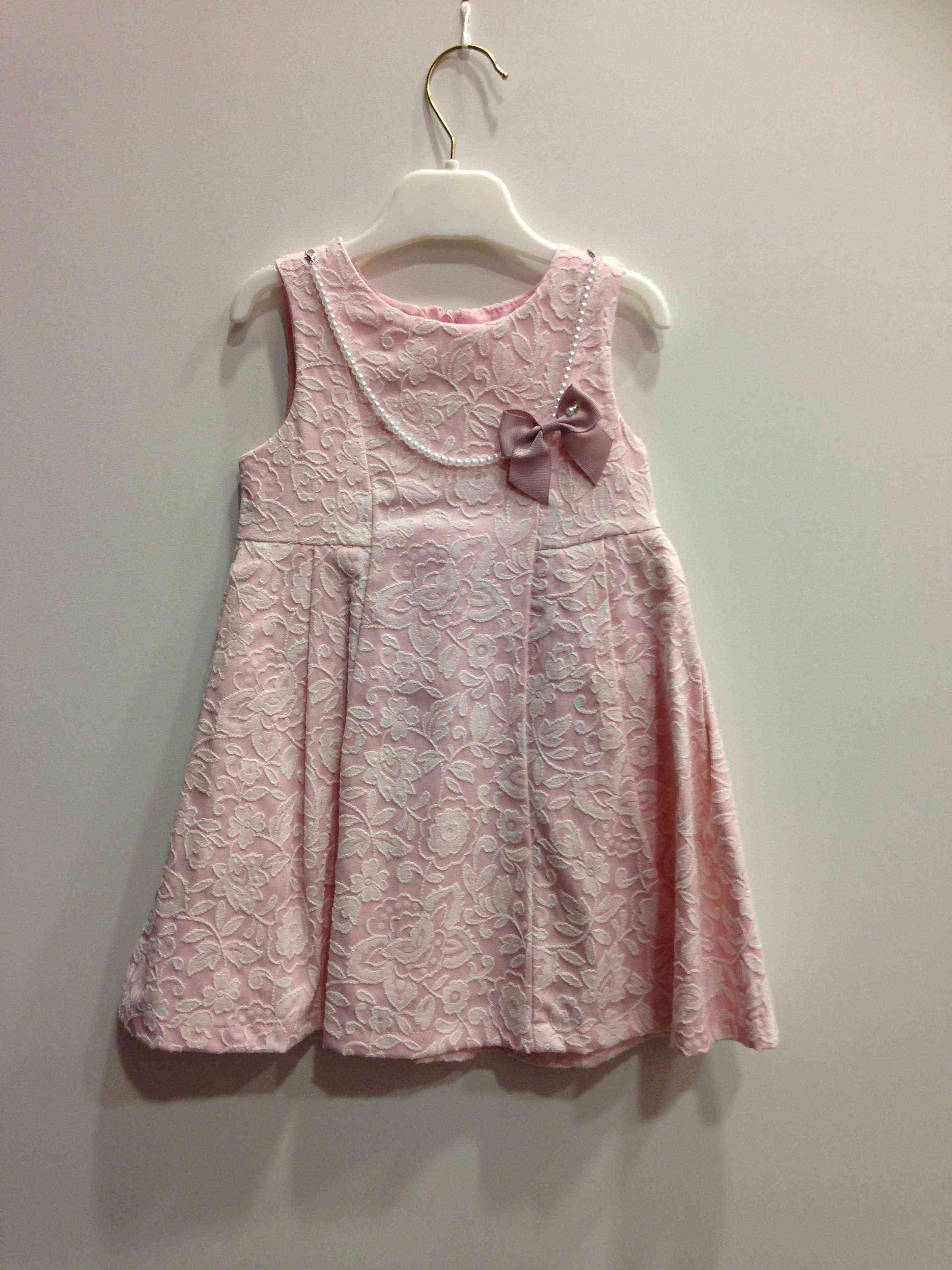bc931b65a86 Babylon φόρεμα ροζ αμάνικο με αποσπώμενο κολιέ φιόγκο -